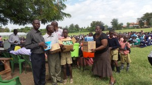 Donation of health products to sch