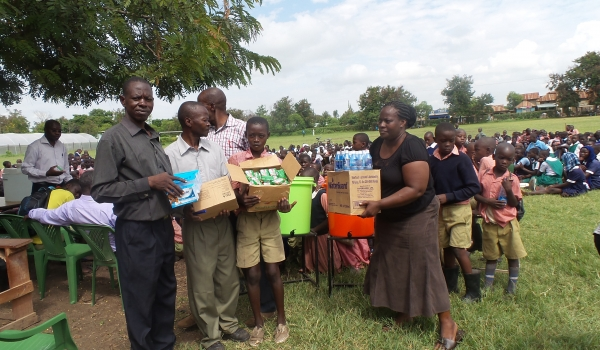 Donation of health products to school